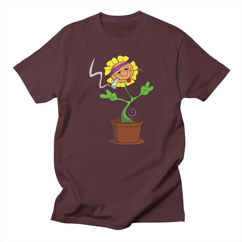 Weed Power to the Hippie Flower Women's Regular Unisex T-Shirt by Illustrated Madness