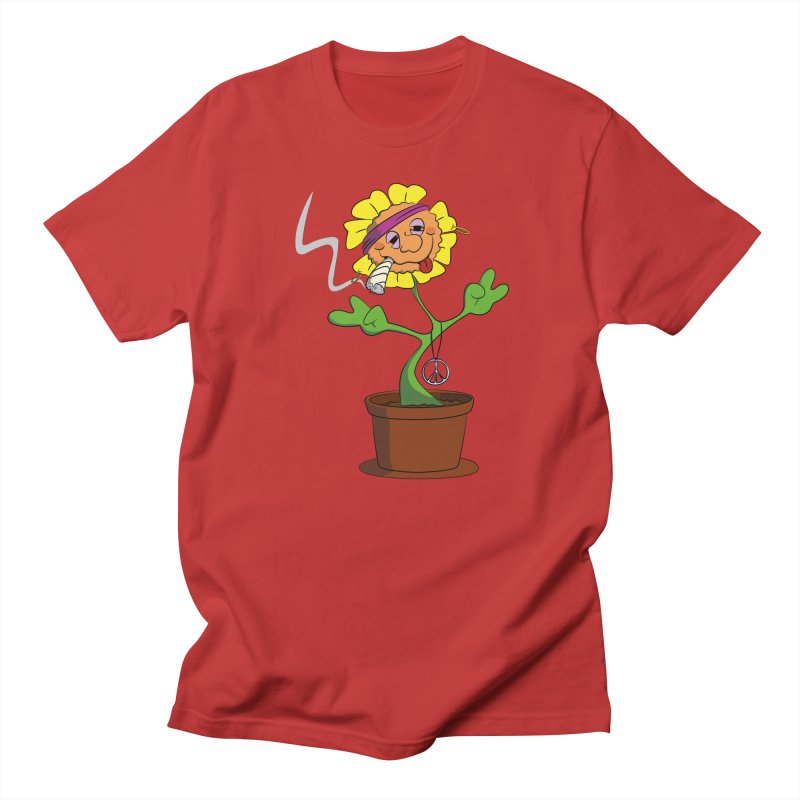 Weed Power to the Hippie Flower Men's Regular T-Shirt by Illustrated Madness