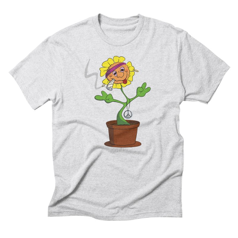 Weed Power to the Hippie Flower Men's Triblend T-Shirt by Illustrated Madness
