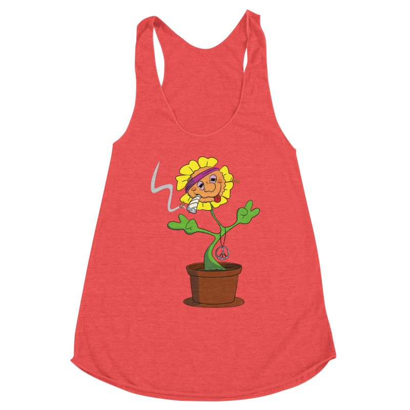 Weed Power to the Hippie Flower Women's Tank by Illustrated Madness
