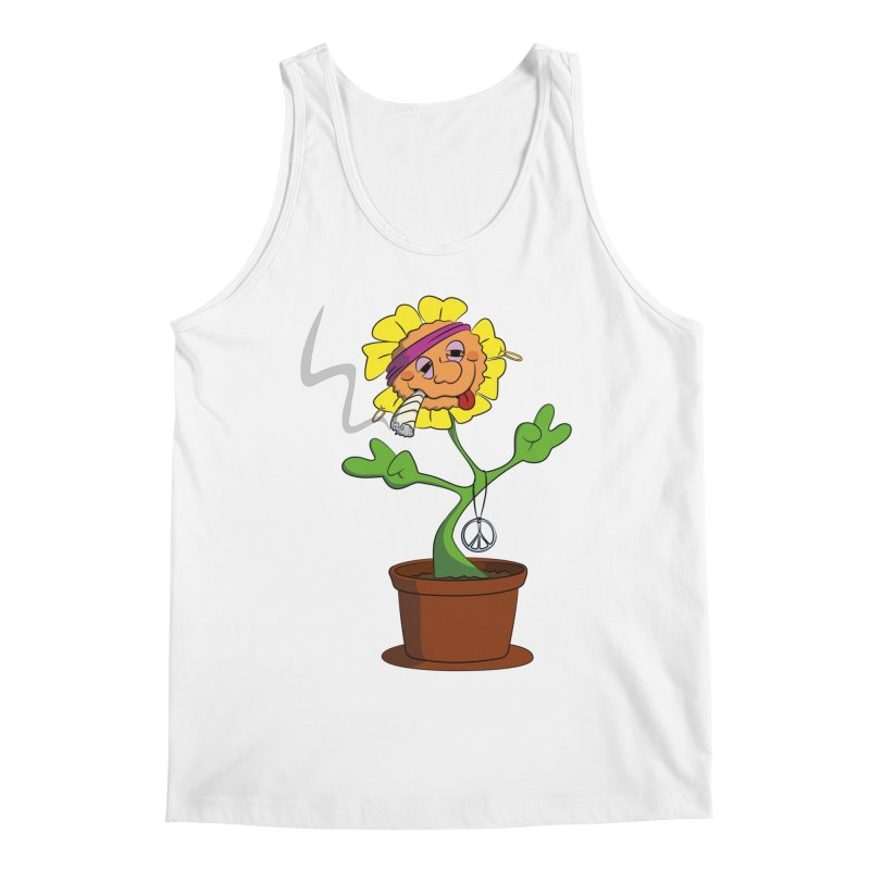 Weed Power to the Hippie Flower Men's Tank by Illustrated Madness