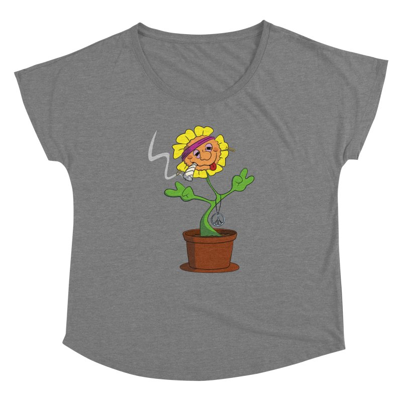 Weed Power to the Hippie Flower Women's Scoop Neck by Illustrated Madness
