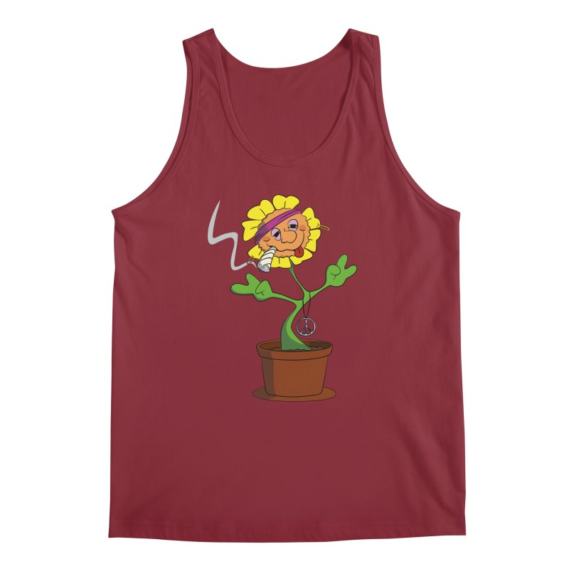 Weed Power to the Hippie Flower Men's Regular Tank by Illustrated Madness