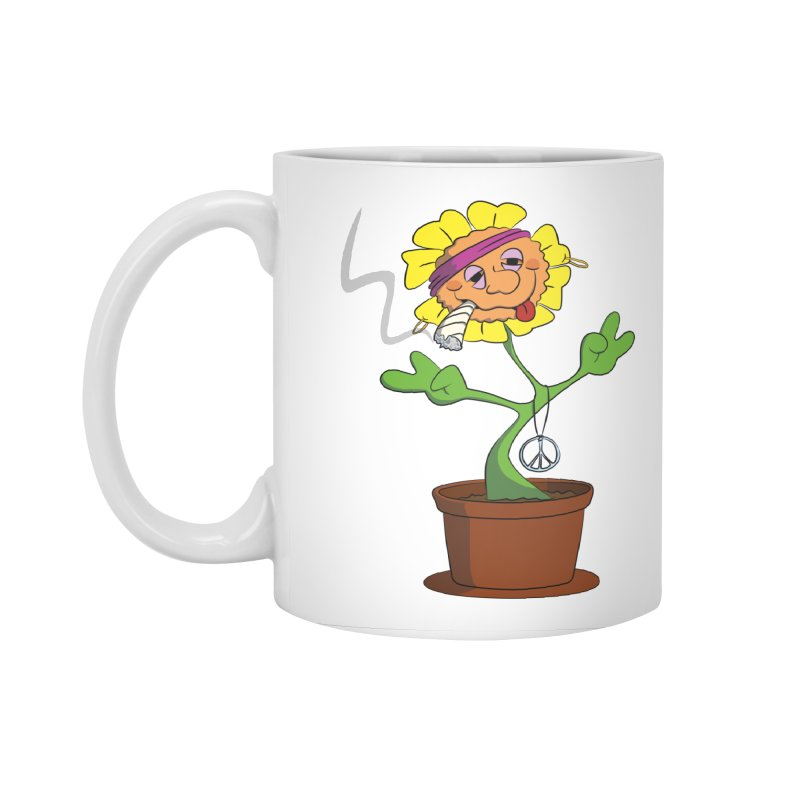 Weed Power to the Hippie Flower Accessories Standard Mug by Illustrated Madness