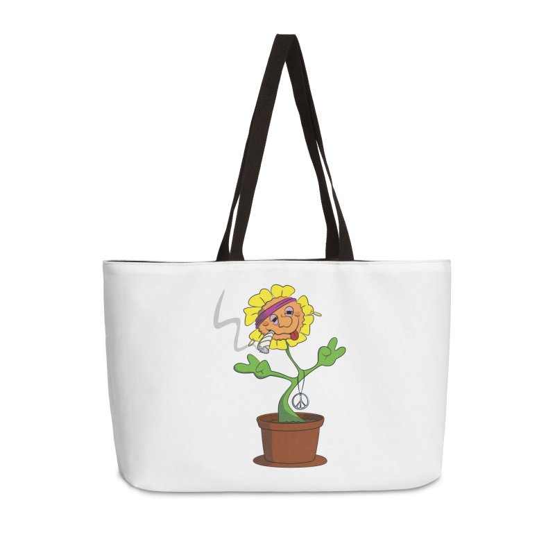 Weed Power to the Hippie Flower Accessories Weekender Bag Bag by Illustrated Madness