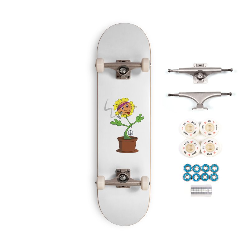Weed Power to the Hippie Flower Accessories Skateboard by Illustrated Madness