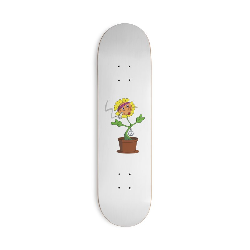 Weed Power to the Hippie Flower Accessories Deck Only Skateboard by Illustrated Madness