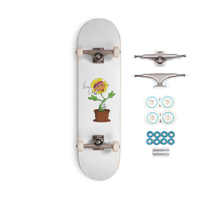Weed Power to the Hippie Flower Accessories Complete - Basic Skateboard by Illustrated Madness