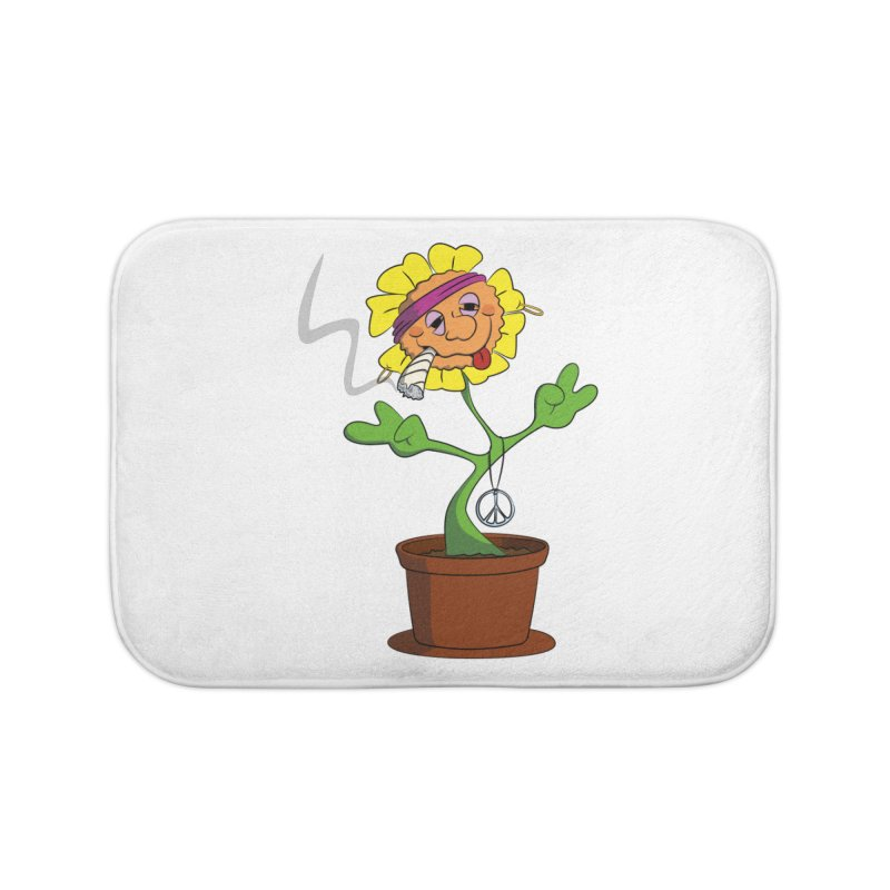 Weed Power to the Hippie Flower Home Bath Mat by Illustrated Madness