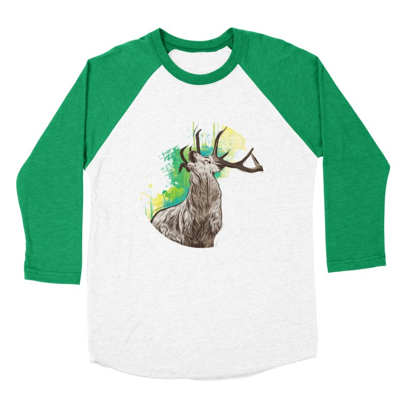 King of The Forest Women's Baseball Triblend T-Shirt by illustrateshire's Artist Shop