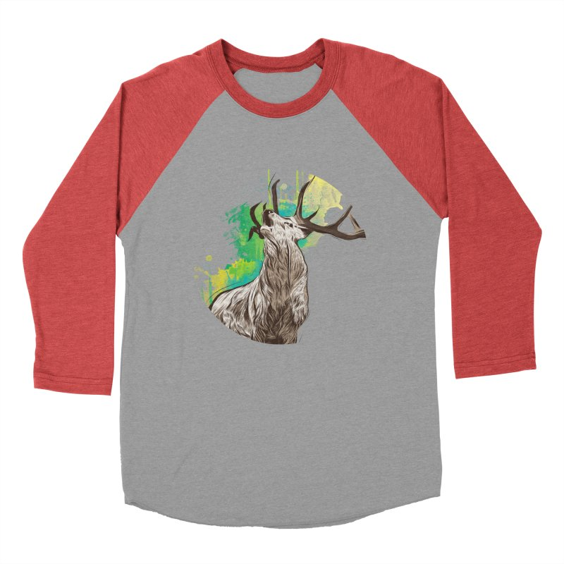 King of The Forest Men's Baseball Triblend T-Shirt by illustrateshire's Artist Shop