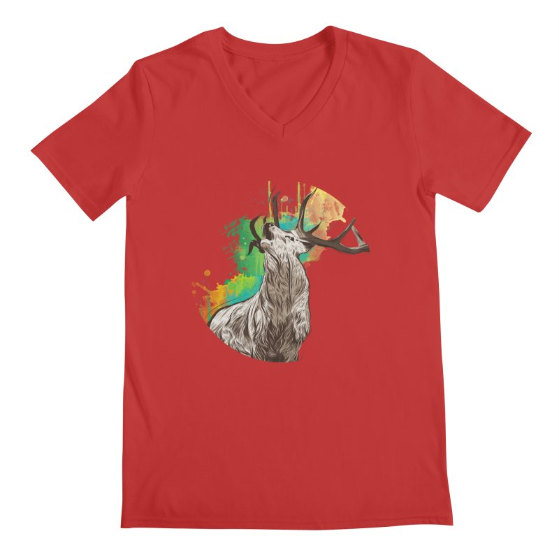 King of The Forest Men's V-Neck by illustrateshire's Artist Shop