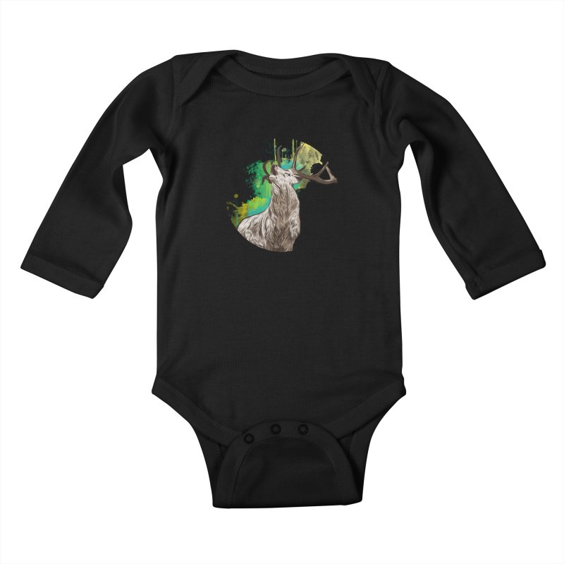 King of The Forest Kids Baby Longsleeve Bodysuit by illustrateshire's Artist Shop