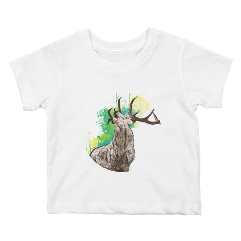 King of The Forest Kids Baby T-Shirt by illustrateshire's Artist Shop