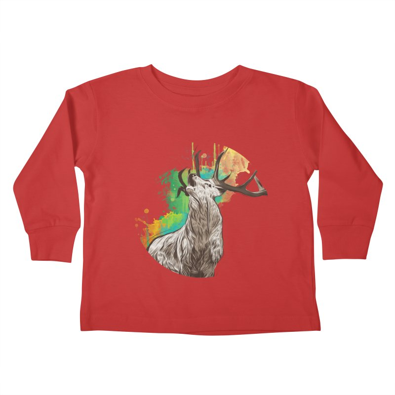 King of The Forest Kids Toddler Longsleeve T-Shirt by illustrateshire's Artist Shop