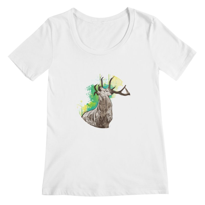 King of The Forest Women's Scoopneck by illustrateshire's Artist Shop