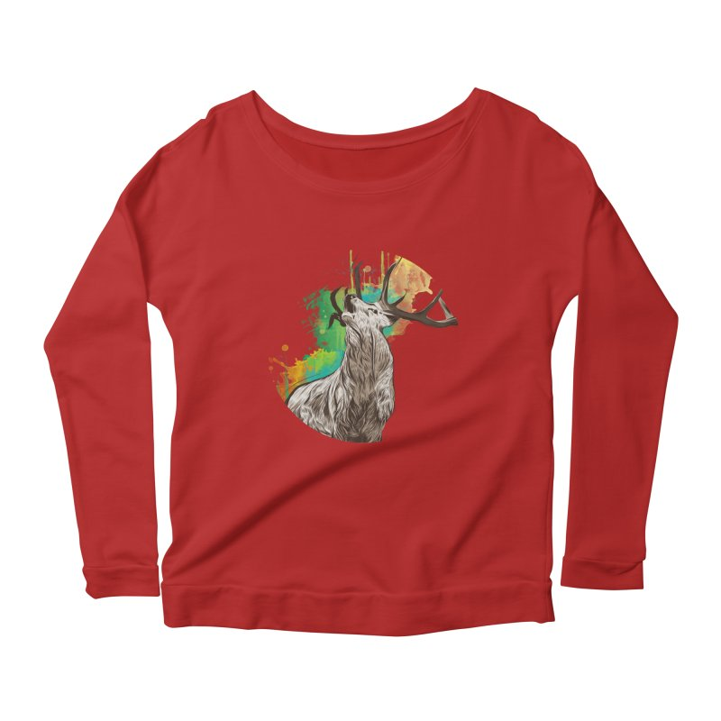 King of The Forest Women's Longsleeve Scoopneck  by illustrateshire's Artist Shop