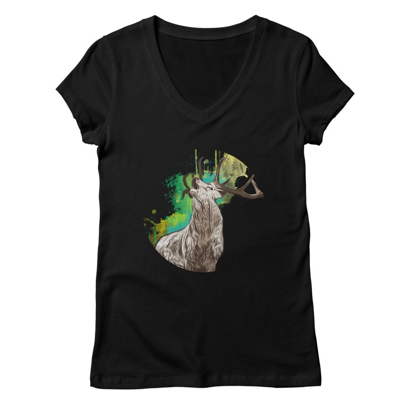 King of The Forest Women's V-Neck by illustrateshire's Artist Shop