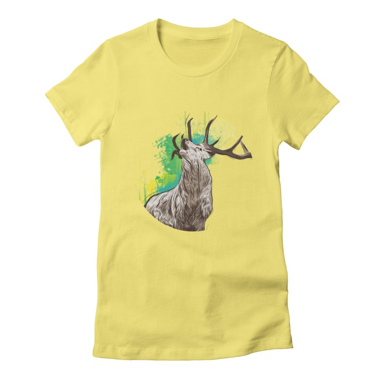 King of The Forest Women's Fitted T-Shirt by illustrateshire's Artist Shop