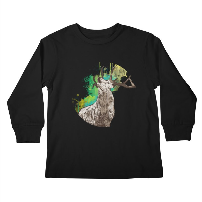 King of The Forest Kids Longsleeve T-Shirt by illustrateshire's Artist Shop