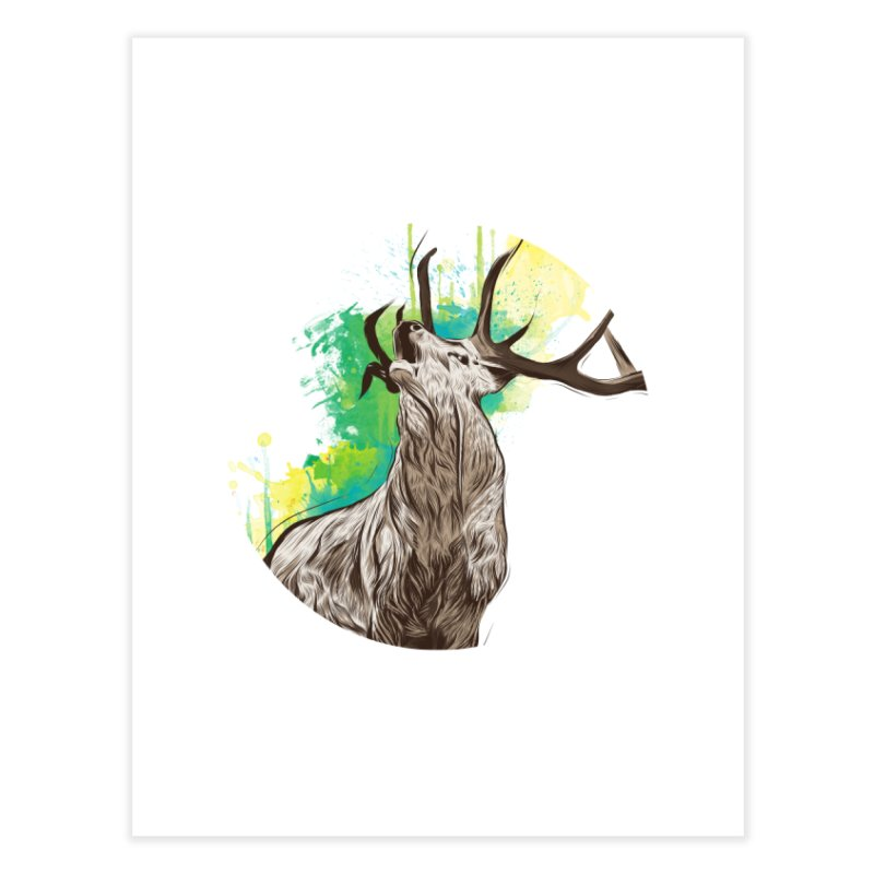 King of The Forest Home Fine Art Print by illustrateshire's Artist Shop