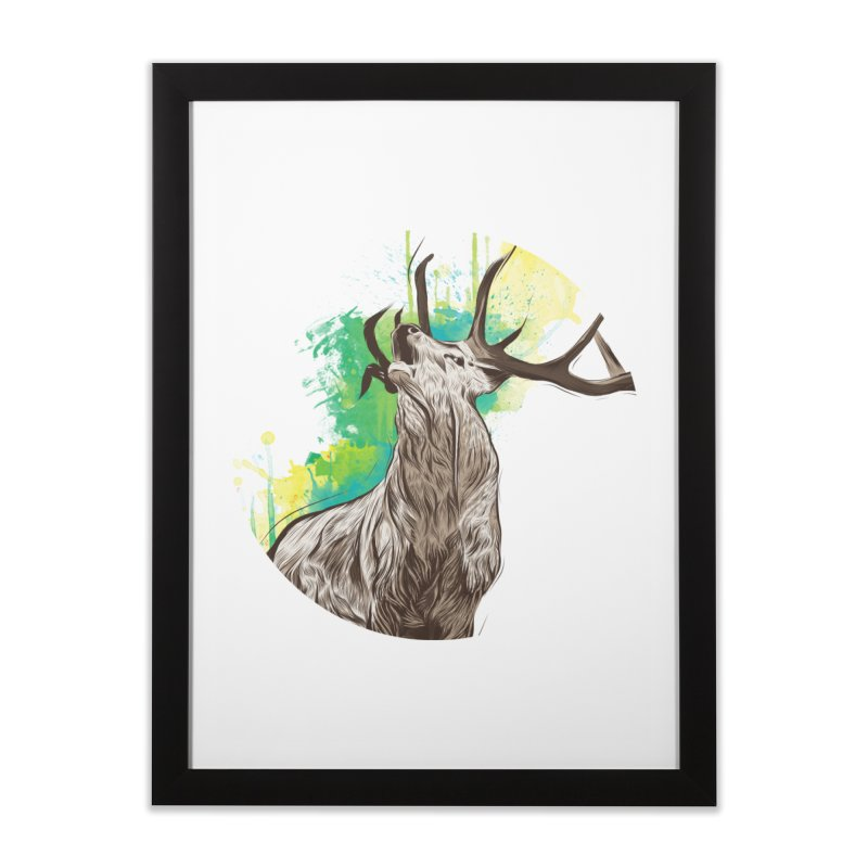 King of The Forest Home Framed Fine Art Print by illustrateshire's Artist Shop
