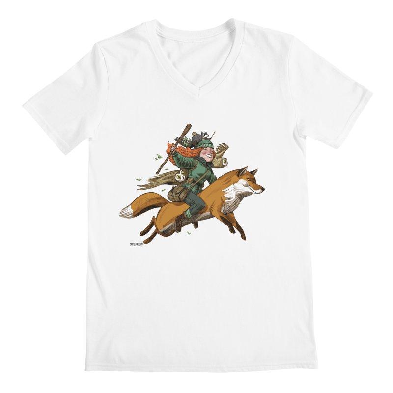 The Fox Men's V-Neck by Illustrationsville!