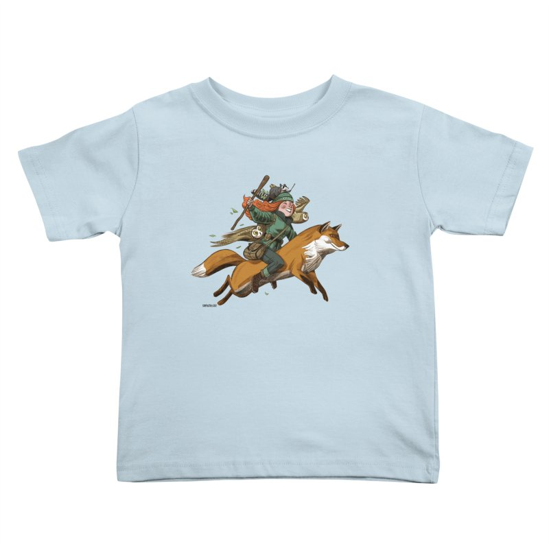 The Fox Kids Toddler T-Shirt by Illustrationsville!