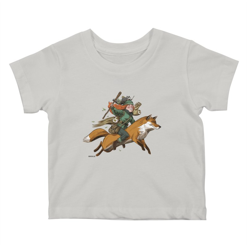 The Fox Kids Baby T-Shirt by Illustrationsville!