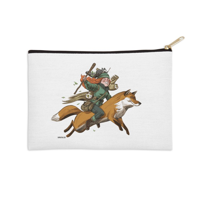 The Fox Accessories Zip Pouch by Illustrationsville!