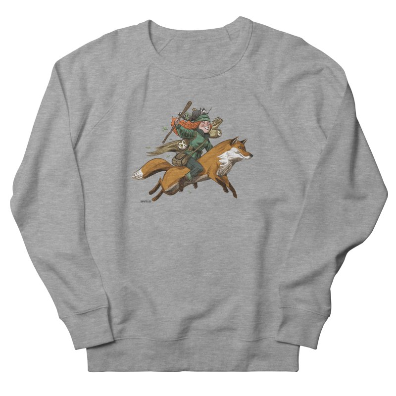 The Fox Men's French Terry Sweatshirt by Illustrationsville!