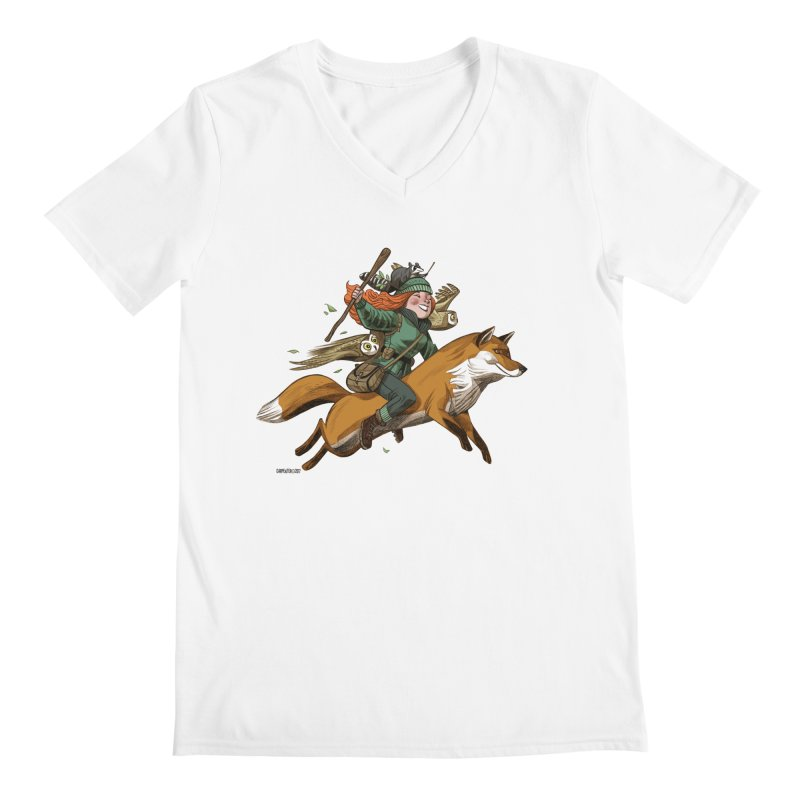 The Fox Men's V-Neck by Illustrationsville!