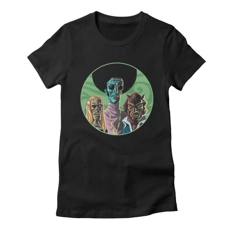 Mod Monster Squad Women's Fitted T-Shirt by Illustrationsville!