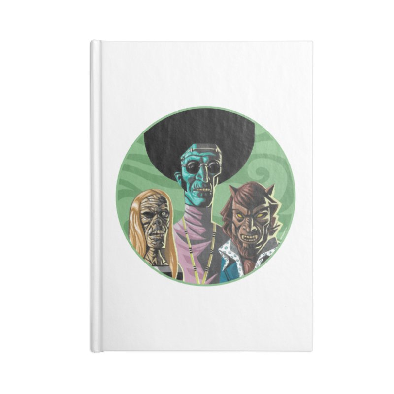 Mod Monster Squad Accessories Notebook by Illustrationsville!