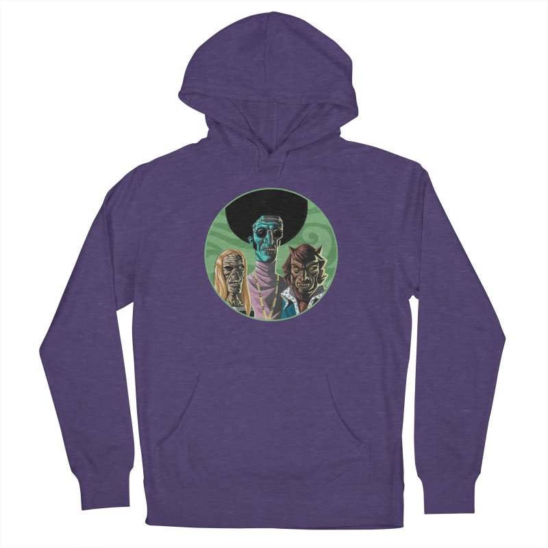 Mod Monster Squad Men's French Terry Pullover Hoody by Illustrationsville!
