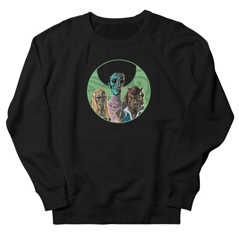 Mod Monster Squad Men's French Terry Sweatshirt by Illustrationsville!