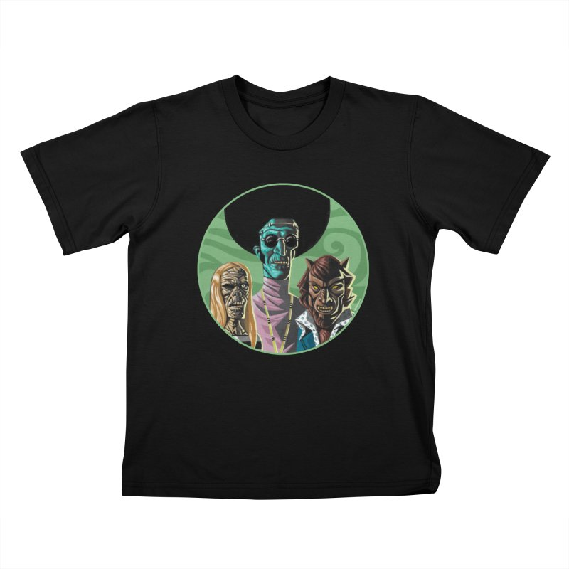 Mod Monster Squad Kids T-Shirt by Illustrationsville!