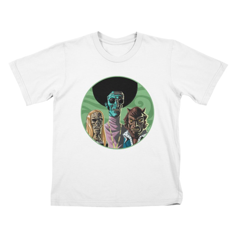 Mod Monster Squad Kids T-Shirt by Illustrationsville!
