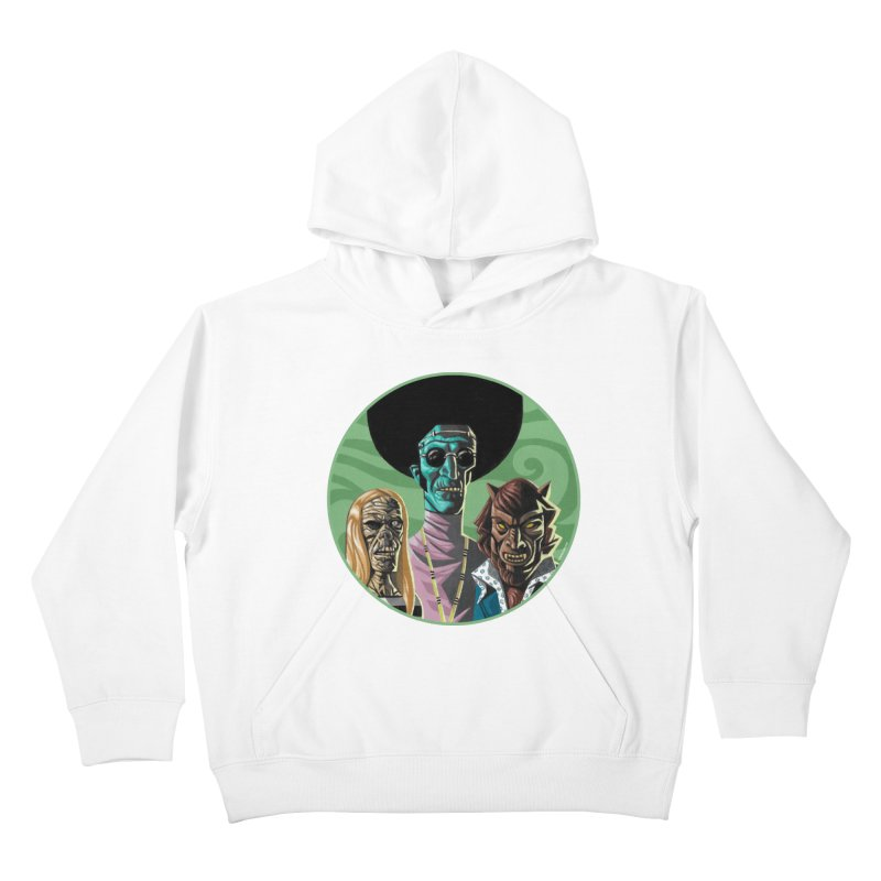 Mod Monster Squad Kids Pullover Hoody by Illustrationsville!