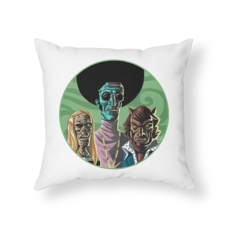 Mod Monster Squad Home Throw Pillow by Illustrationsville!