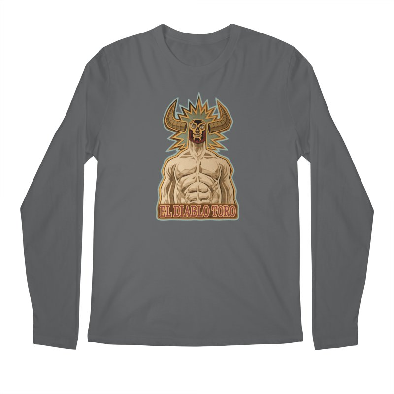 El Diablo Toro (The Devil Bull) Men's Regular Longsleeve T-Shirt by Illustrationsville!