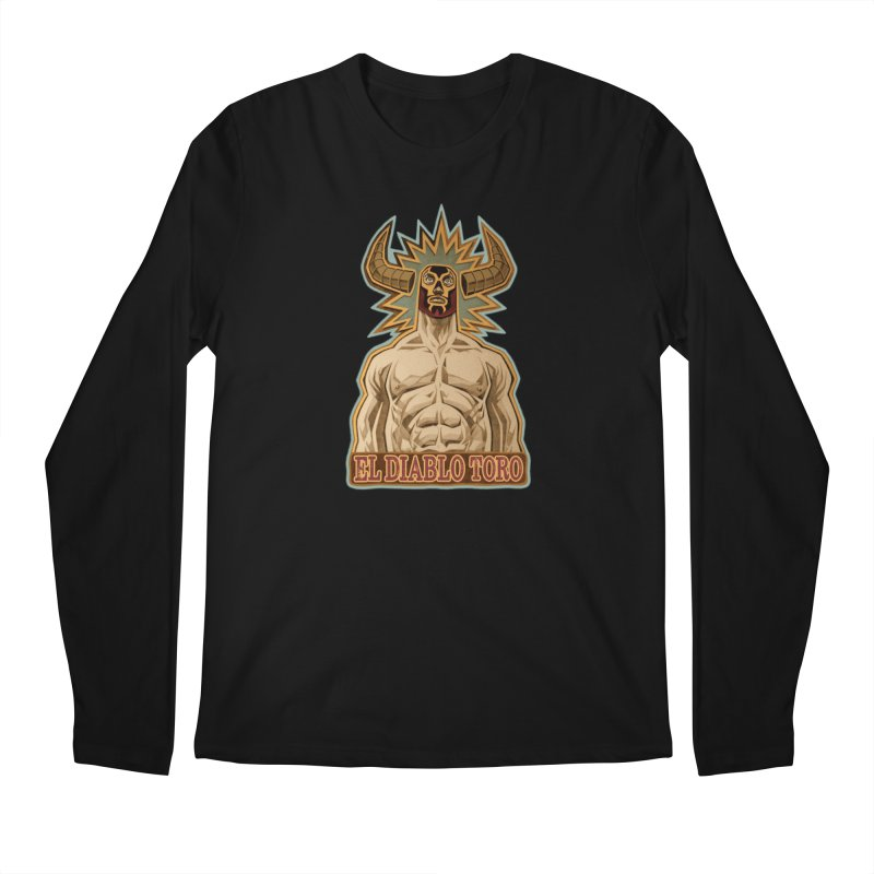 El Diablo Toro (The Devil Bull) Men's Regular Longsleeve T-Shirt by Illustrationsville!