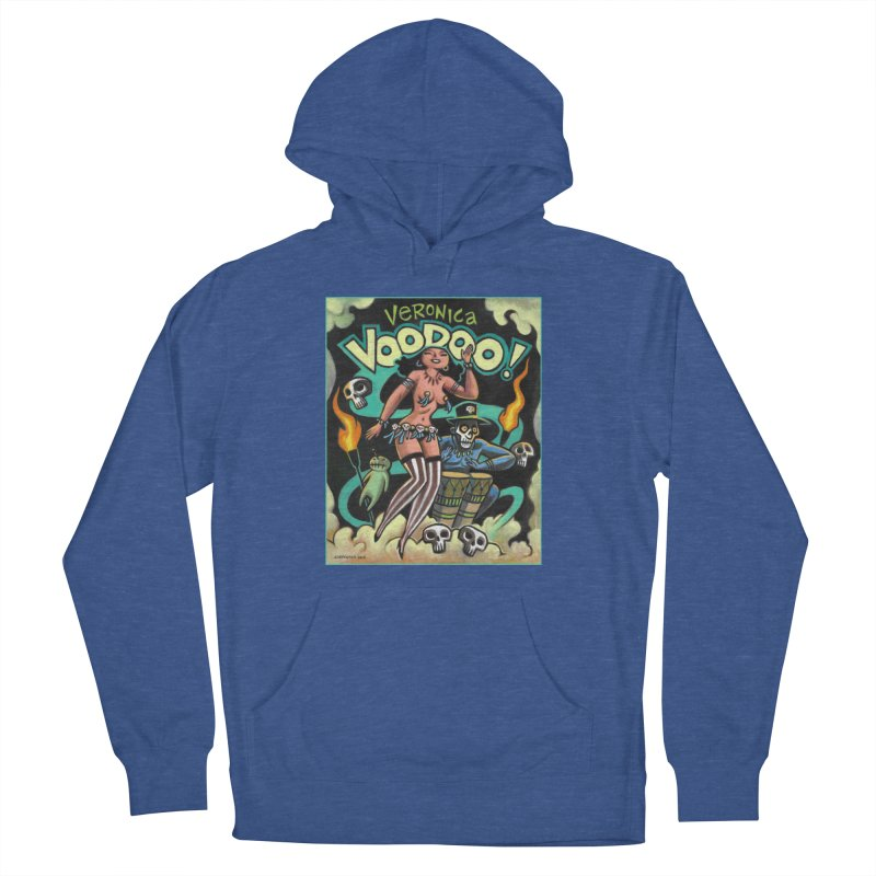 Veronica Voodoo Men's French Terry Pullover Hoody by Illustrationsville!