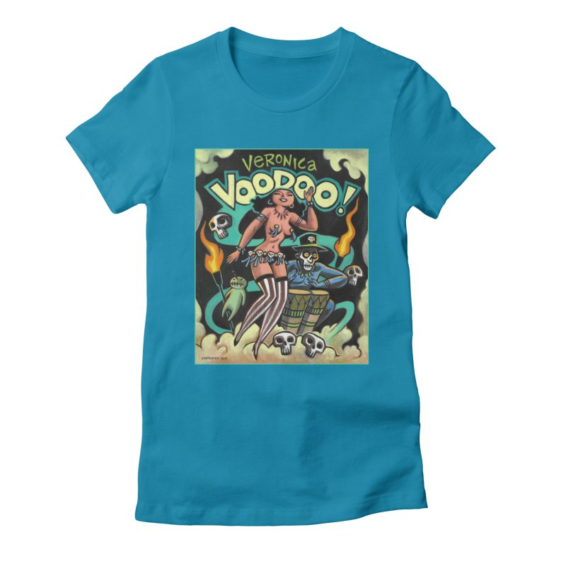 Veronica Voodoo Women's Fitted T-Shirt by Illustrationsville!