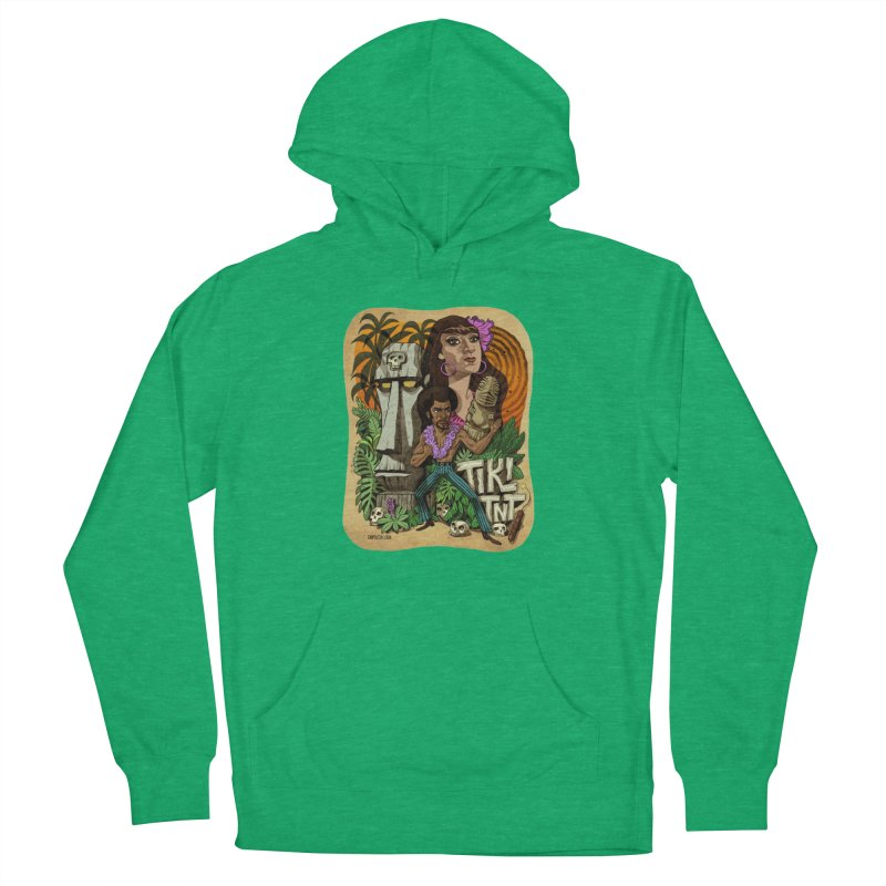 TIKI TNT Men's French Terry Pullover Hoody by Illustrationsville!