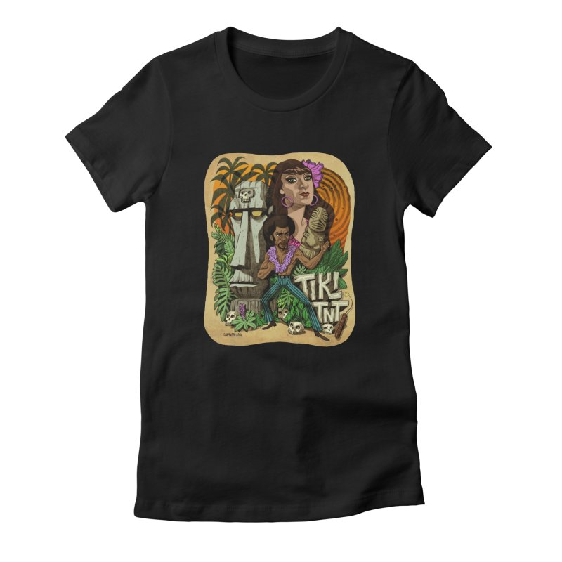 TIKI TNT Women's Fitted T-Shirt by Illustrationsville!