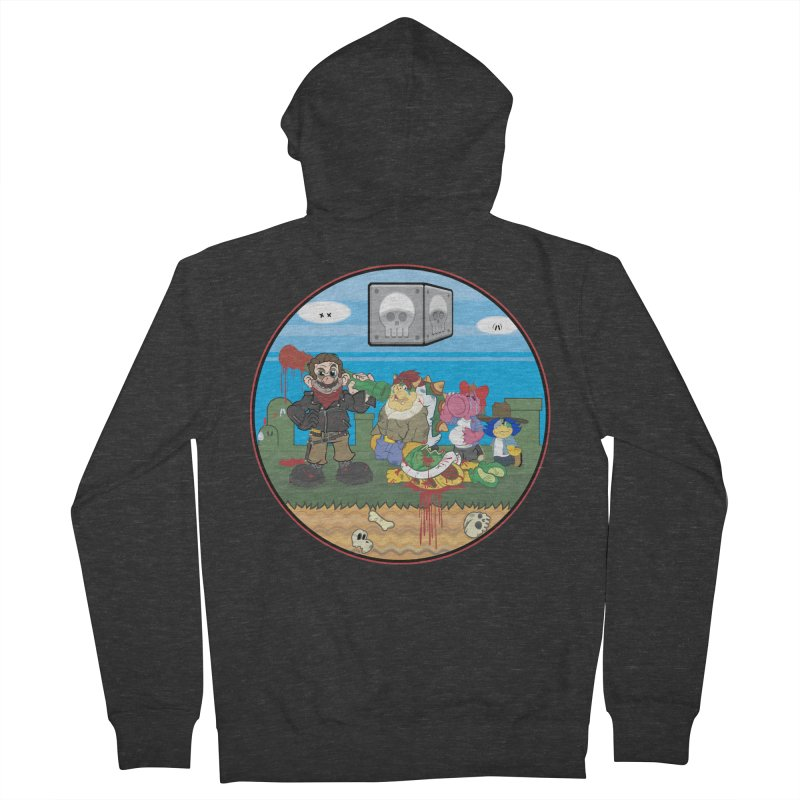 MARIO IS DEAD Women's Zip-Up Hoody by illustrativecelo's Artist Shop