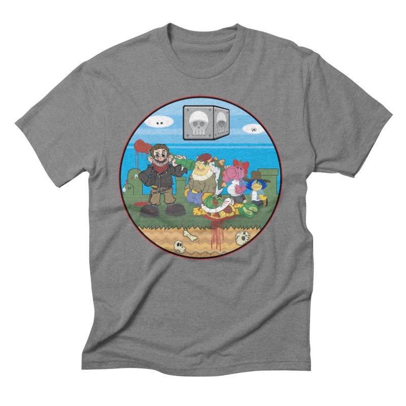 MARIO IS DEAD Men's Triblend T-Shirt by illustrativecelo's Artist Shop