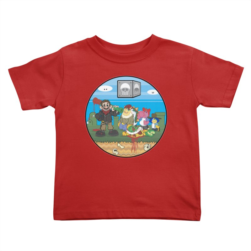 MARIO IS DEAD Kids Toddler T-Shirt by illustrativecelo's Artist Shop