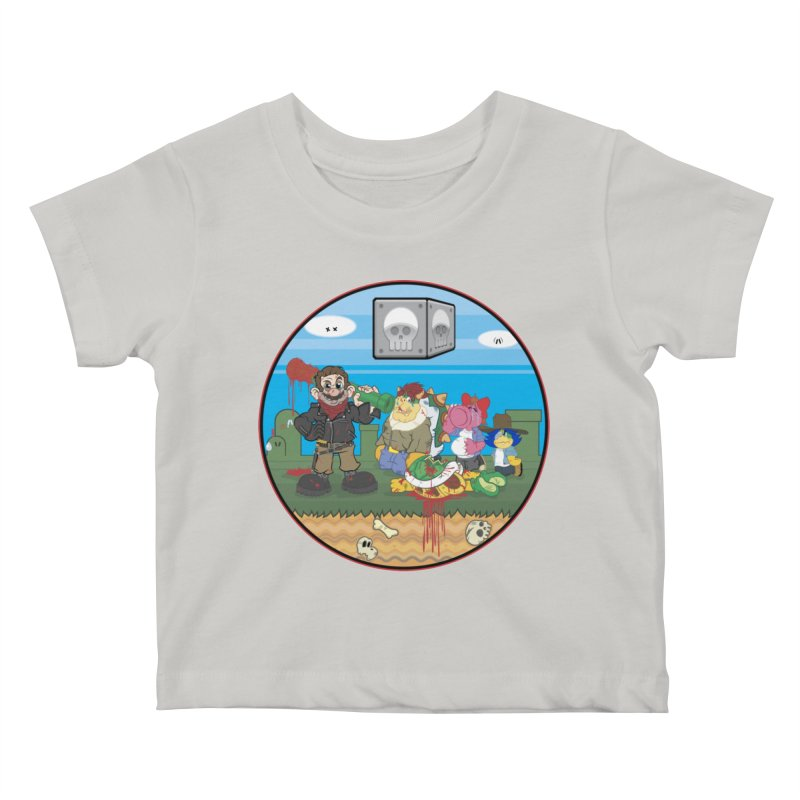 MARIO IS DEAD Kids Baby T-Shirt by illustrativecelo's Artist Shop